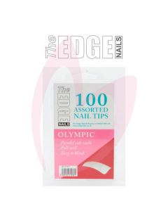 The Edge Nails OLYMPIC Nail Tips - (100 Assorted Pack)