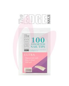 The Edge Nails ULTRA Nail Tips - (100 Assorted Pack)