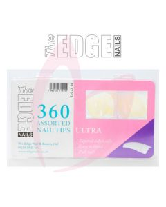 The Edge ULTRA Nail Tips - (360 Assorted Pack)
