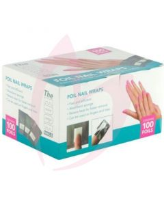 The Edge Foil Nail Wraps with pads 100s
