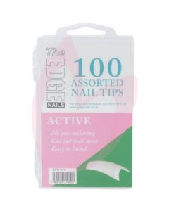 The Edge Nails ACTIVE Nail Tips - (100 Assorted Pack)