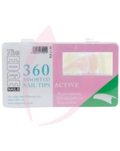 The Edge Nails ACTIVE Nail Tips - (360 Assorted Pack)