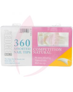 The Edge Nails COMPETITION NATURAL (360 Assorted Pack)