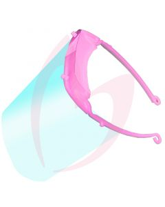 Face Visor with Bright Pink Head Strap