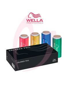 Wella Hair Foil 4 Rolls - Coloured Foil 12cm x 50m
