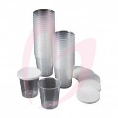 Disposable Cups With Lids (500)