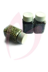 4.5mm Silicone Micro Beads - Dark Brown x200