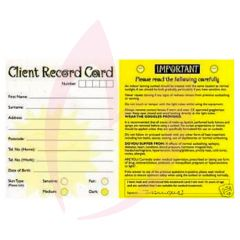 Bliss Client Record Cards 100 Pack (2021)