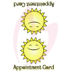 Bliss Sunbed Appointment Cards (x100 per pack) (2021)