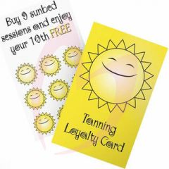 Tanning Loyalty Cards 100 Pack