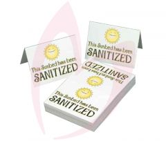 Sanitized Signs - 100 Pack