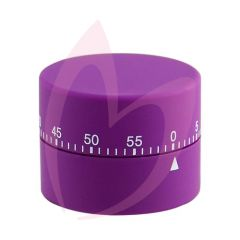 Soft Touch Mechanical 60 Minute Timer - Purple