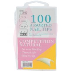 The Edge Nails COMPETITION NATURAL (100 Assorted Pack)