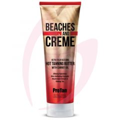 Pro Tan Beaches & Creme Ultra Rich Sizzling Hot Tanning Butter with Carrot Oil 250ml (2021)