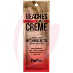 Pro Tan Beaches & Creme Ultra Rich Sizzling Hot Tanning Butter with Carrot Oil 22ml (2021)