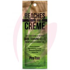 Pro Tan Beaches & Creme Fast Absorbing Ultra Rich Dark Tanning Gelee with Hemp Seed & Carrot Oil 22ml (2021)