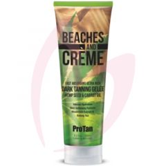 Pro Tan Beaches & Creme Fast Absorbing Ultra Rich Dark Tanning Gelee with Hemp Seed & Carrot Oil 250ml (2021)