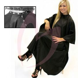 Hair Tools Black Unisex Gown (with Poppers)