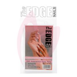 The Edge Nails FRENCH COMPETITION WHITE (100 Assorted Pack)
